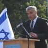 Rede von Yair Lapid am Gleis 17