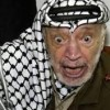 Arabische Stadt entfernt Straßenschild mit dem Namen Yasser Arafat
