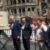 Grundsteinlegung für das jüdische Museum in Köln