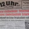 Das 12 Uhr Blatt – BZ am Mittag schreibt am Freitag, 25. August 1944: Neue Maßnahmen zur totalen Kriegsführung und andere Durchhalteparolen