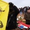 Pro-Hisbollah-Biker im Libanon drohen an der israelische Grenze