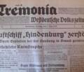 Alltag im Hitlerreich: Die Tremonia berichtet am Freitag, den 7. Mai 1937 was sie schreiben musste