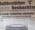 Wie der Westdeutsche Beobachter das Unglück des LZ-Hindenburg für die Propaganda ausschlachtete II. Teil