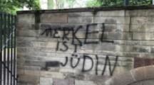"Antisemitisches Graffiti: ""Merkel ist Jüdin"" in Stuttgart"