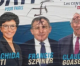 Antisemitische und rassistische Graffiti auf Wahlplakaten in Frankreich